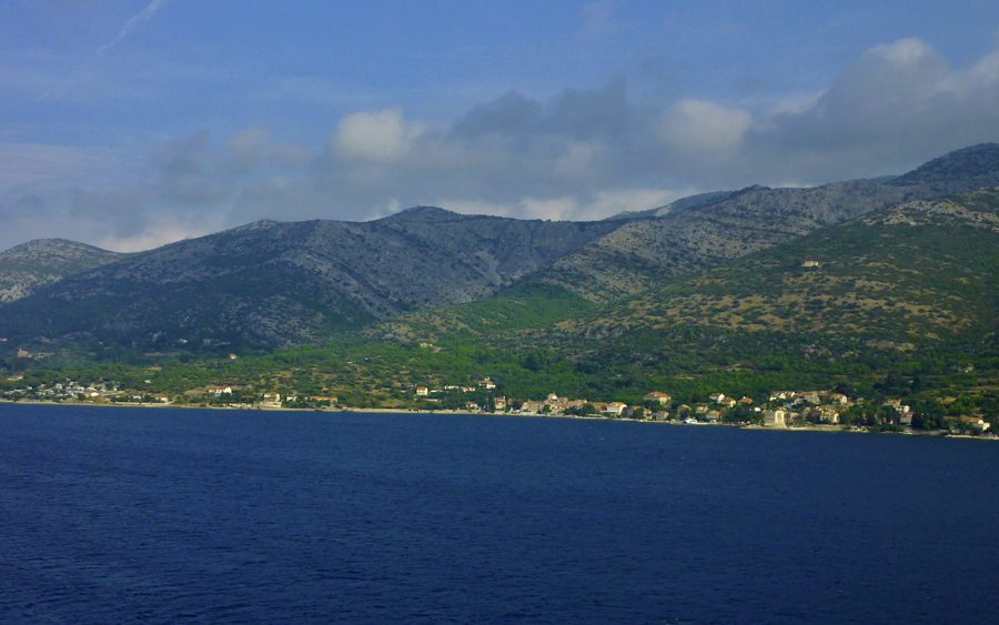 Coming into Korcula
