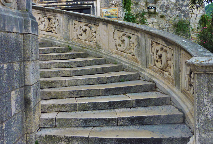 Steps in Korcula